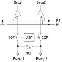 автоматический ввод резерва принципиальная схема